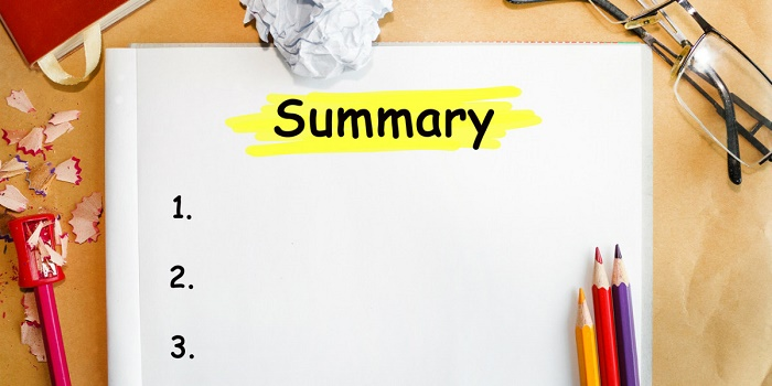 tips to write a summary